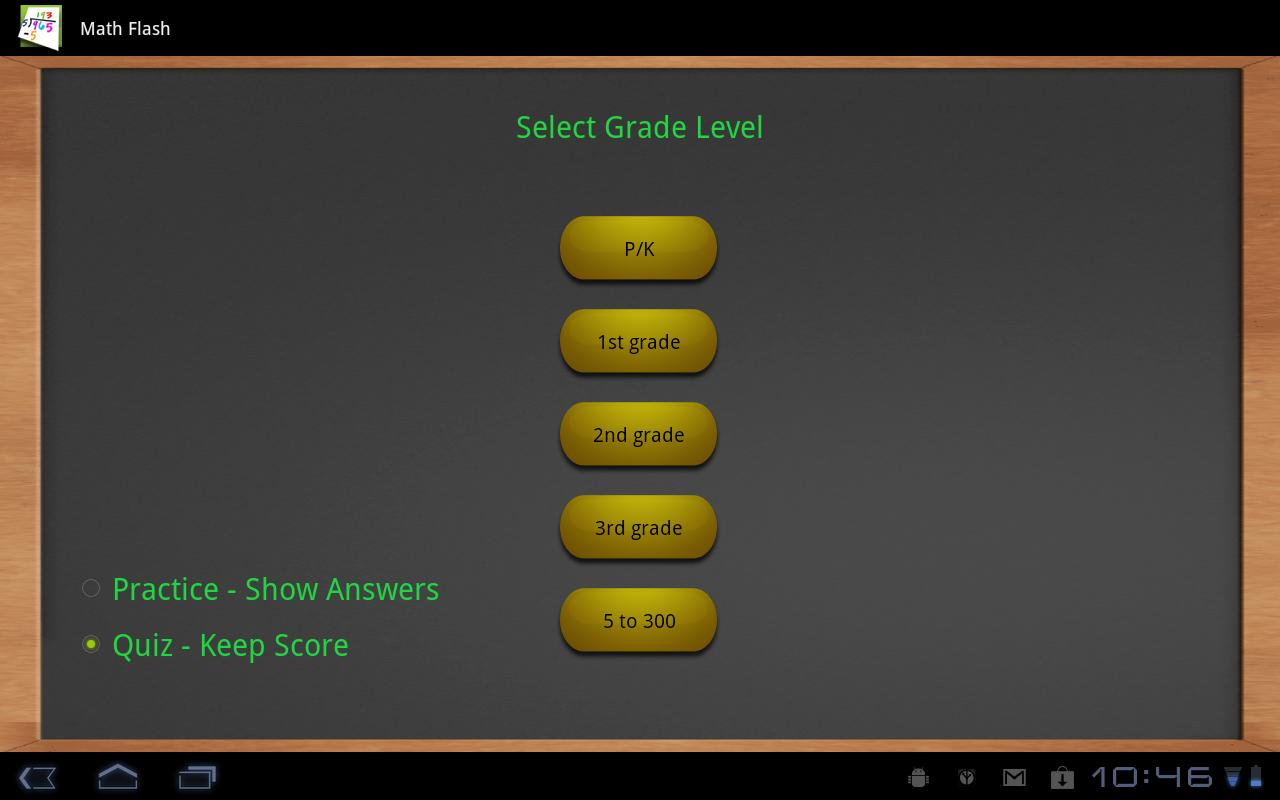 Math flash cards (Tablet) - screenshot