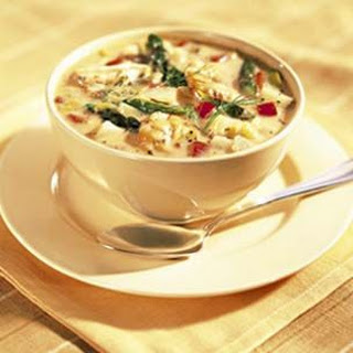 Roasted Asparagus and Shrimp Chowder