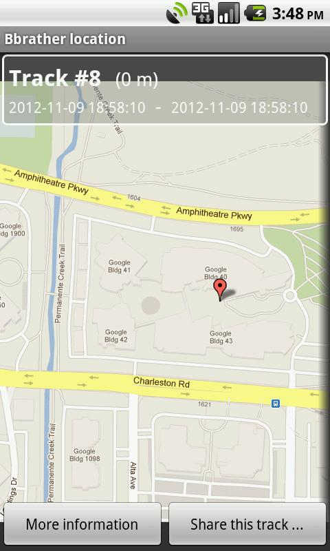 Bbrather location  GPS tracker - screenshot