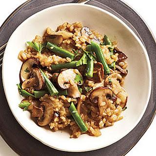 Mushroom-Brown Rice Risotto.