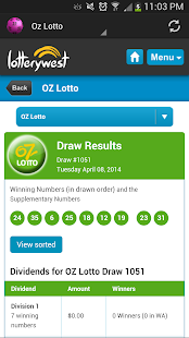 Australian Lotto Results - screenshot thumbnail