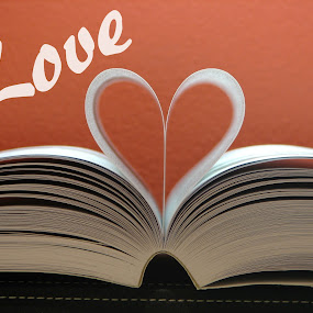 Love by Judy Dean - Typography Captioned Photos ( love, heart, red, book,  )