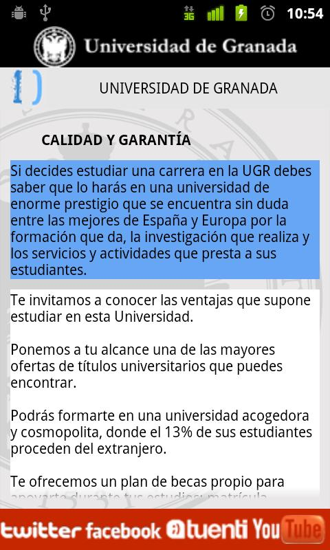 Estudia UGR- screenshot