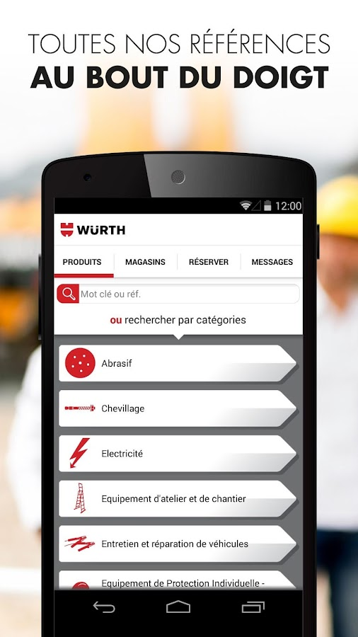 Würth - Clic & Shop- screenshot