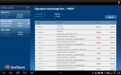 SunTrust Tablet App - screenshot thumbnail