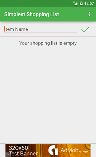 Simplest Shopping List