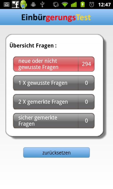Einbürgerungstest - screenshot