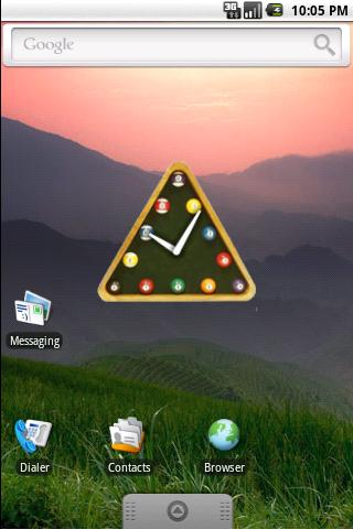 snooker clock widget - screenshot