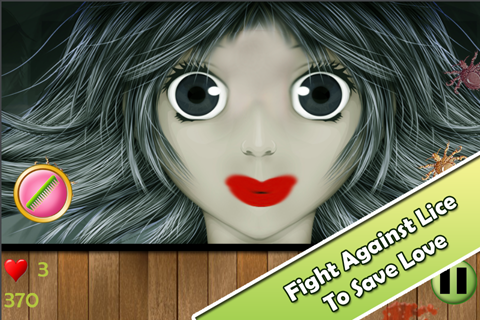 Funny Game - Man vs Lice FREE - screenshot