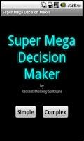 Screenshot of Super Mega Decision Maker