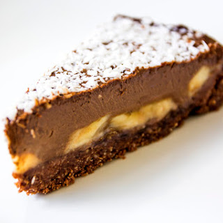 Banana, Peanut Butter & Chocolate Avocado 'Cream' Tart.