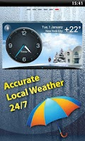 Screenshot of Weather & Clock - Meteo Widget