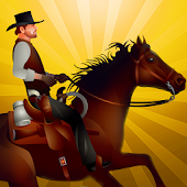 Cowboy Horseback Riding Race