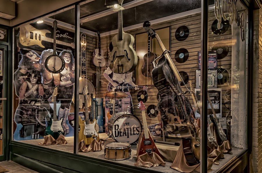 Musical Window by RomanDA Photography - Artistic Objects Musical Instruments ( music, window, hdr, long exposure, night )