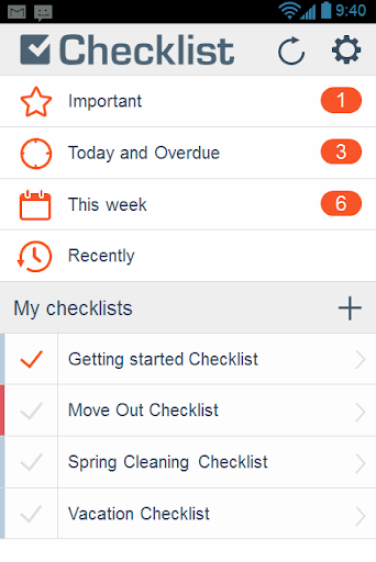 Checklist: ToDo Tasks Lists