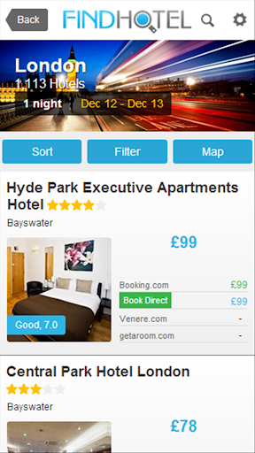 Hotel Search - Find Hotels App