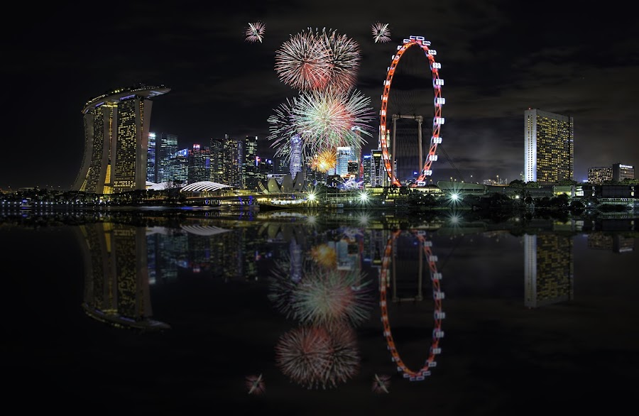 NDP 2014 by Kafoor Sammil - City,  Street & Park  Night ( ndp 2014, singapore )