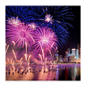 3D fireworks HD Live Wallpaper