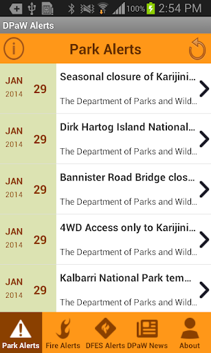 Parks and Wildlife Alerts