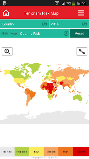 【免費商業App】Aon Risk Map - Free-APP點子