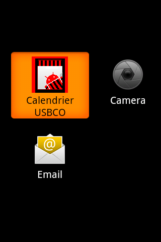 Calendrier USBCO - screenshot
