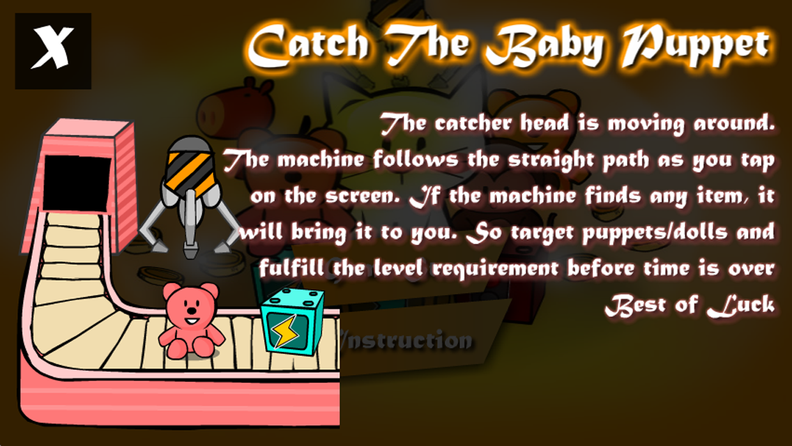 Catch the baby puppet - screenshot