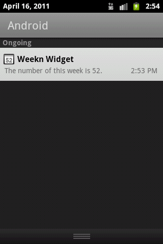 Weekn widget- screenshot