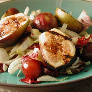Warm Salad of Grilled Figs, Grapes, and Bitter Greens Recipe