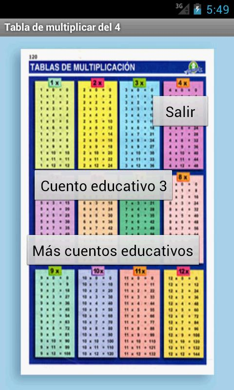 Cuento educativo 3º (ora) - screenshot