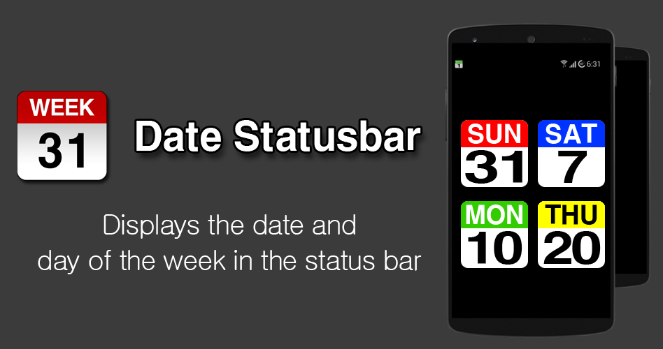 Date Statusbar- screenshot