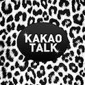 B&W Leopard  Kakaotalk Theme