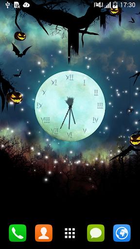 ハロウィン時計ライブ壁紙