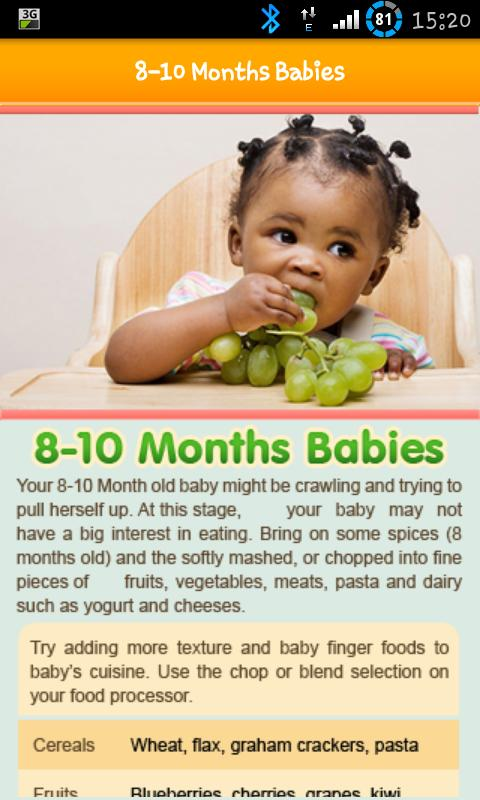91 food ideas for 9 month old indian baby 5 lunch recipes for 9 100 baby food recipe screenshot forumfinder Gallery