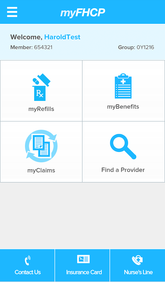 myFHCP- screenshot