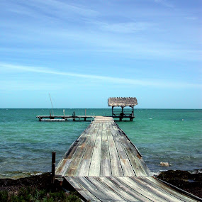 Paradise Awaits by Matt Hulland - Landscapes Waterscapes ( florida, sea, ocean, deck, dock )