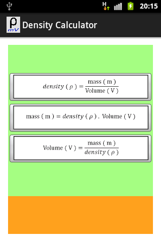Density Equations