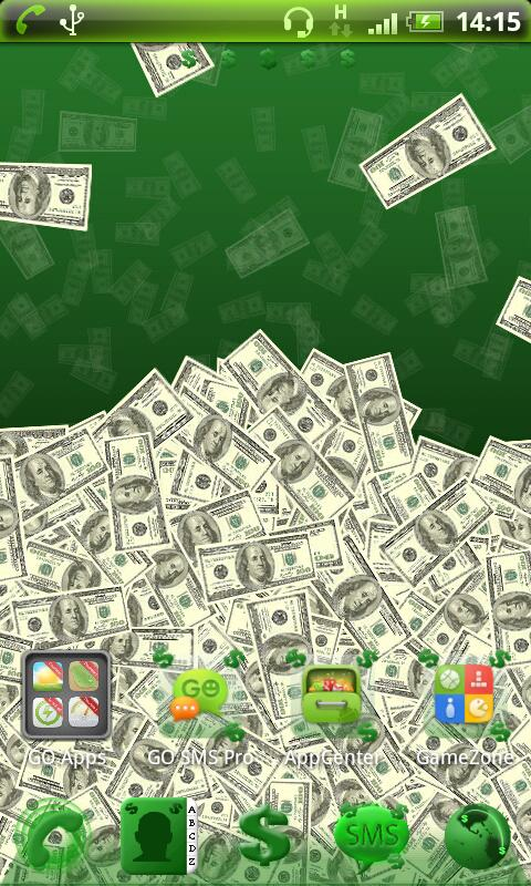 Go Launcher EX Theme Dollar - screenshot