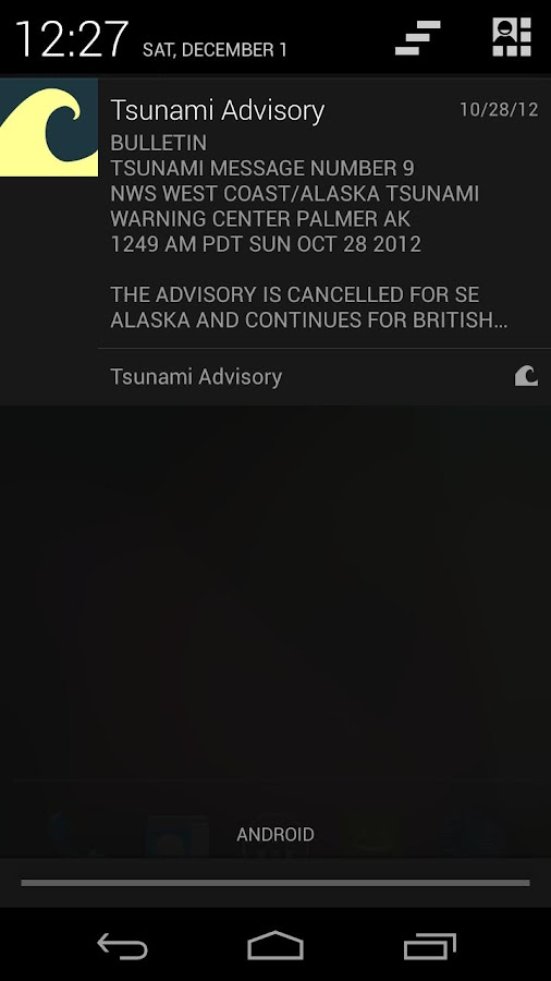 Tsunami Alert - screenshot