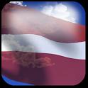 3D Latvia Flag + icon