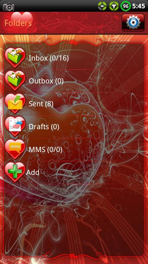 Valentines Day GO SMS Theme- screenshot