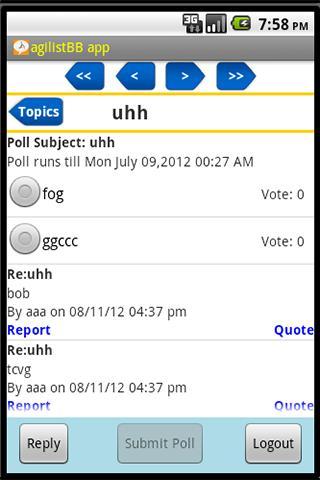 agilistBB app- screenshot