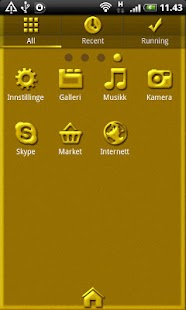 Golden GO Launcher EX Theme - screenshot thumbnail