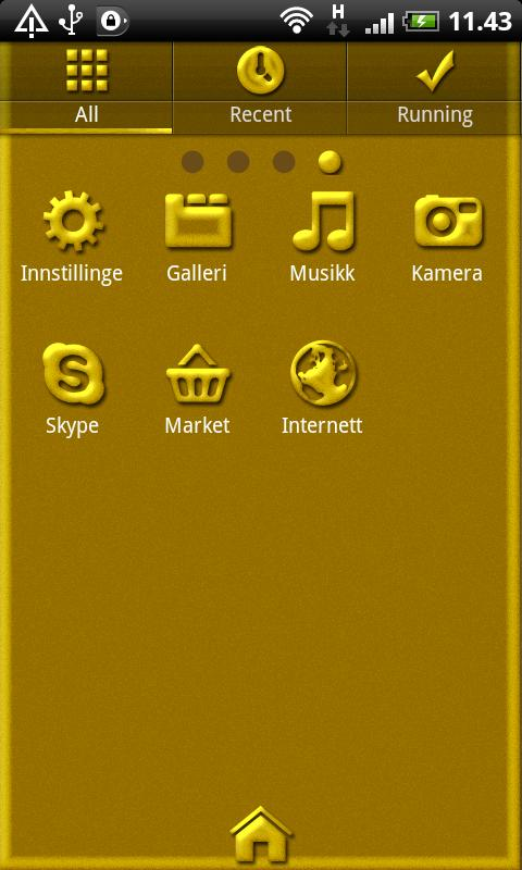Golden GO Launcher EX Theme- screenshot