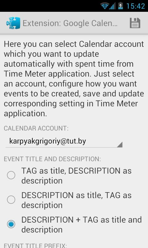 Time Meter Extensions - screenshot
