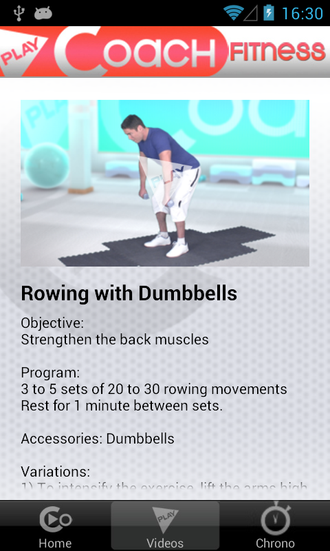 PlayCoach™ Dumbbell Workouts- screenshot