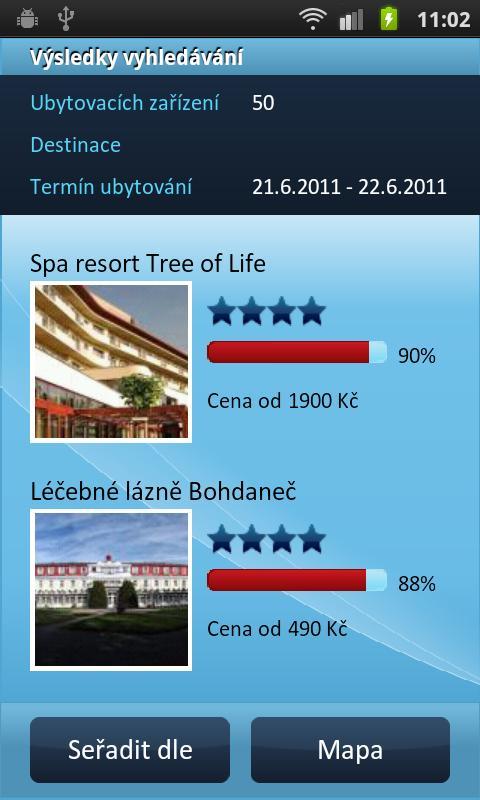 HOTELY cz Rezervace ubytování - screenshot