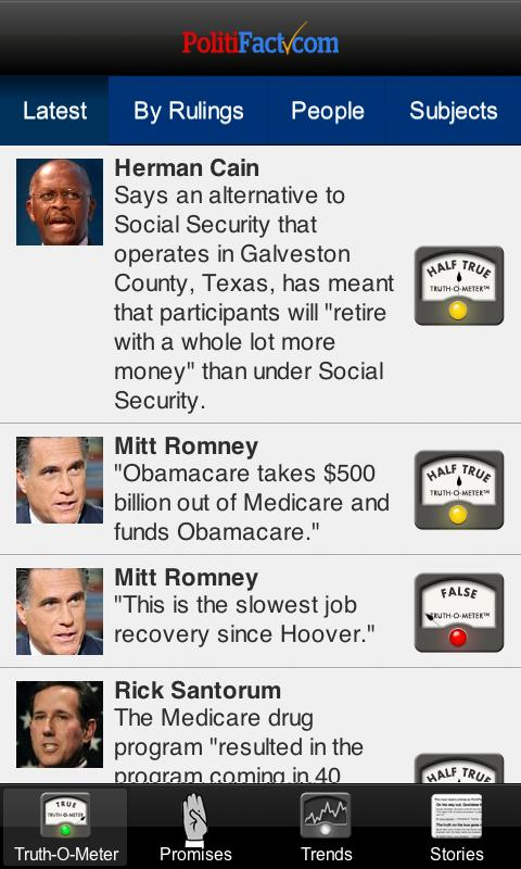 Politifact Mobile - screenshot