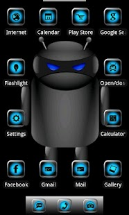 ADW Theme Droid Moonglow- screenshot thumbnail