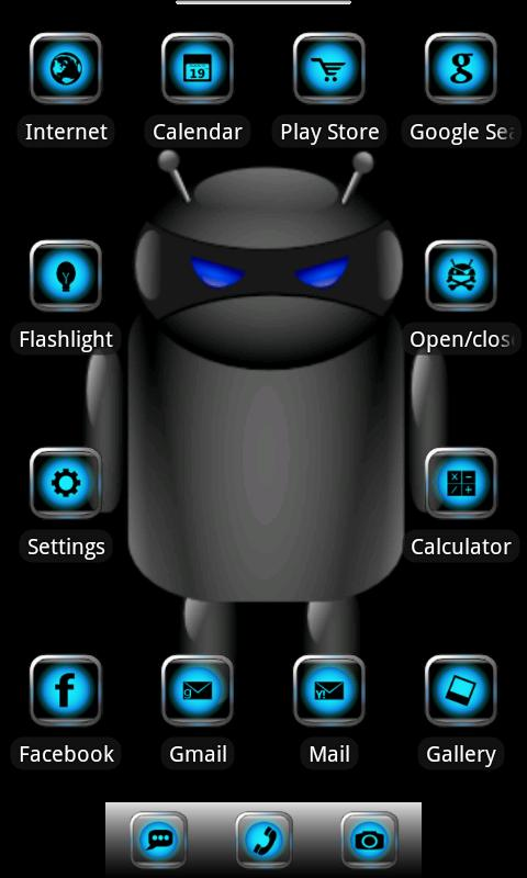 ADW Theme Droid Moonglow- screenshot