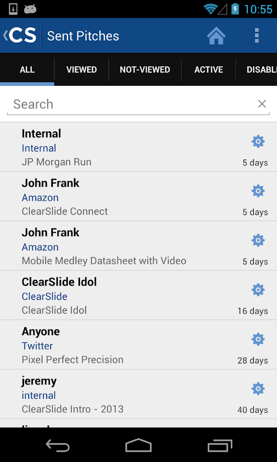 ClearSlide Connect- screenshot